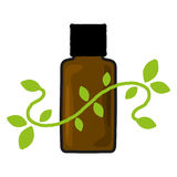 Aromatherapy. Illustration of an aromatherapy bottle Stock Photography