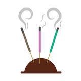 Aromatherapy incense sticks Royalty Free Stock Images