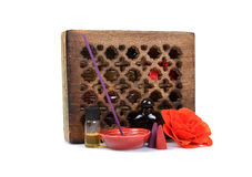 Aromatherapy items Royalty Free Stock Image