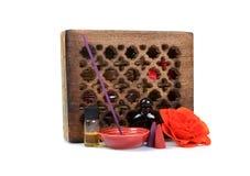 Aromatherapy items royalty free stock image