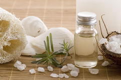 Aromatherapy items royalty free stock images