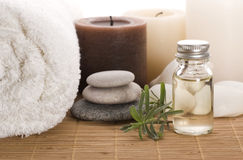 Aromatherapy items Stock Photography