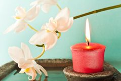Aromatherapy Kerze Lizenzfreies Stockbild