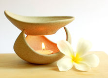 Aromatherapy lamp with flower Royalty Free Stock Photo