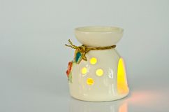 Aromatherapy lamp. Isolated on white background Royalty Free Stock Photo