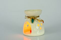 Aromatherapy lamp isolated. On white background Stock Images