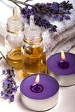 Aromatherapy lavendel royalty-vrije stock afbeeldingen
