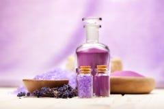 Aromatherapy lavendel stock fotografie