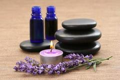 Aromatherapy lavendel Stock Afbeelding