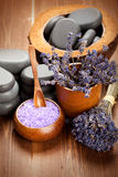 aromatherapy lavender προσοχής σωμάτων Στοκ εικόνα με δικαίωμα ελεύθερης χρήσης