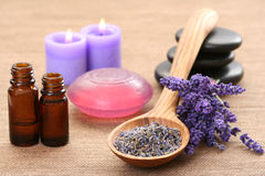 aromatherapy lavender Στοκ εικόνα με δικαίωμα ελεύθερης χρήσης