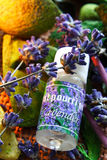 Aromatherapy - lavender oil Stock Image