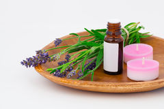 Aromatherapy Lavender oil Royalty Free Stock Photos