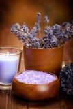 aromatherapy lavender spa επεξεργασία Στοκ Εικόνες