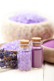 Aromatherapy - lavender Spa minerals Stock Photography