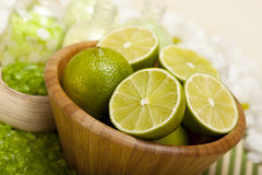 Aromatherapy - lime bath salt Stock Photo