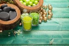 aromatherapy massage salt spa πέτρες Στοκ εικόνες με δικαίωμα ελεύθερης χρήσης