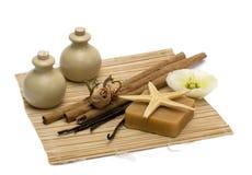 Aromatherapy, massagem & termas Foto de Stock Royalty Free