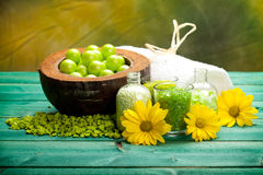 aromatherapy minerals spa προμήθειες Στοκ εικόνα με δικαίωμα ελεύθερης χρήσης