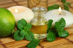 Aromatherapy with mint oil Stock Images