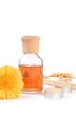 Aromatherapy mit Exemplarplatz Stockbild