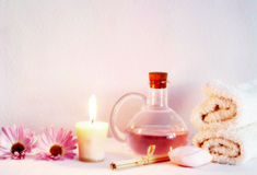 Aromatherapy objects Stock Photos