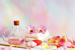 Aromatherapy objects royalty free stock photos