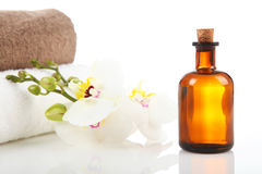 Aromatherapy och massageolja Royaltyfria Bilder
