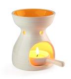 Aromatherapy oil burner. Isolated on white Stock Photo