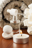 Aromatherapy oil and candle Stock Image