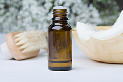 Aromatherapy oil and flowers Royalty Free Stock Photos