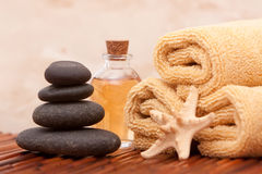 Aromatherapy oil and spa items Royalty Free Stock Images