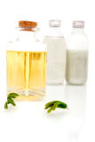 Aromatherapy oils. On white background Stock Image