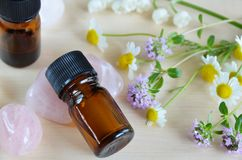 Aromatherapy oils Stock Images