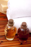 Aromatherapy oils for spa Stock Photos