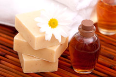 Aromatherapy oils for spa Stock Photography