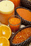 Aromatherapy - Orange bath salt Stock Images