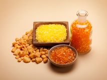 Aromatherapy - Orange bath salt Royalty Free Stock Photography
