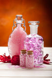 Aromatherapy - pink minerals for Spa Royalty Free Stock Image