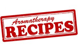 Aromatherapy recipes. Stamp with text aromatherapy recipes inside,  illustration Stock Photography