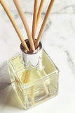 Aromatherapy reed diffuser air freshener close up Royalty Free Stock Photography