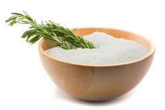 Aromatherapy Rosemary en zout royalty-vrije stock fotografie