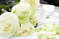 Aromatherapy with roses Stock Image