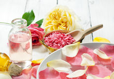 Aromatherapy with roses Royalty Free Stock Images
