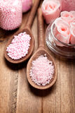 Aromatherapy salt - spa supplies Stock Image