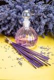 Aromatherapy sano natural y fragancia casera, lavanda púrpura imagen de archivo