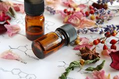 Aromatherapy and science Royalty Free Stock Photos