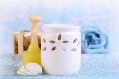 aromatherapy set Arkivfoton