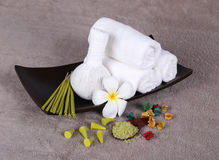 Aromatherapy setting Stock Photography