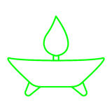 Aromatherapy. Simple thin line green aromatherapy icon vector Royalty Free Stock Photography